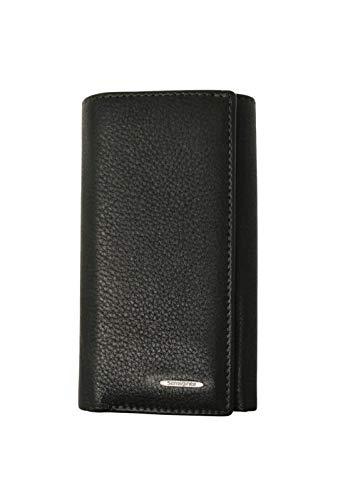 Samsonite, cartera y llavero con ocho ganchos con bolsillo para billetes, de piel auténtica, línea NYX, color marrón oscuro