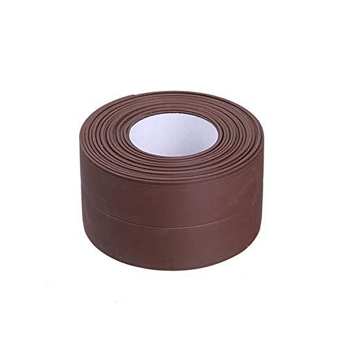 Muur Hoek Afdichtingstape PVC Waterdichte Zelfklevende Tegel Scheur Gootsteen Rand Reparatie Afdichtband Tape Keuken Badkamer Spleetstrip, Koffie-3.2mx 2.2cm