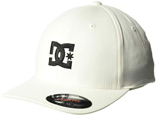 DC Shoes Men's Star 2 Flexfit Hat White Black