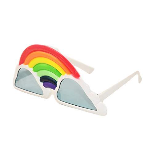 Toyvian Neuheit Party Brille Regenbogen Wolke Kostüm Prop Partei begünstigt Foto Zubehör Dekoration