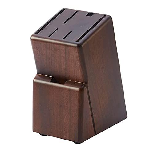 Bloques de Cuchillos Porta Cuchillos de Madera de Goma Organizador de Cuchillos de encimera de Cocina Portacuchillos Antideslizante Organizador de Ahorro de Espacio (Color: Marrón)