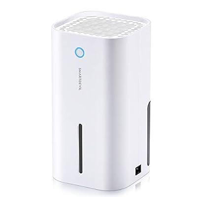 SmartDevil Dehumidifier, 850ml (28 oz) Auto-Off Small Dehumidifier for 215 sq ft, Compact and Portable Mini Dehumidifier for Basement, Bathroom, Garage, Wardrobe, RV and Room (White) by SmartDevil