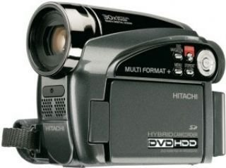Hitachi DZ-HS 500 E Camcorder (HDD/DVD Hybrid, 30GB, 30-Fach Opt. Zoom, 6,9 cm (2,7 Zoll) Display)