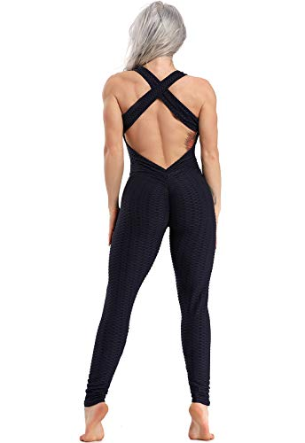 FITTOO Mallas Pantalones Deportivos Leggings Mujer Yoga de Alta Cintura Elásticos y Transpirables para Yoga Running Fitness con Gran Elásticos1370 Navy S
