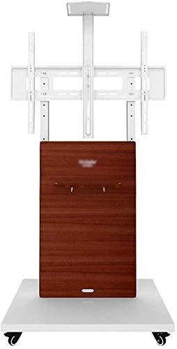 GAOJINXIURZ Soporte TV Ruedas Soporte TV Suelo Inicio Floor Stand TV móvil, orientable giratoria Cesta de TV for la Pantalla de 32-70 Pulgadas, 220 Libras de Capacidad de Carga (Color : A)