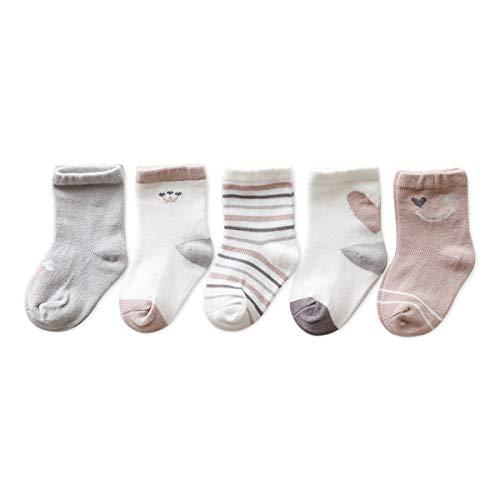 DORRISO Nieuw 5 paar Katoenen Sokken Meisjes Jongens Sokken Dreumes Sokken Katoenen Sokken Ademend voor0-7 jaar oude pasgeboren baby-sokken voor kinderen