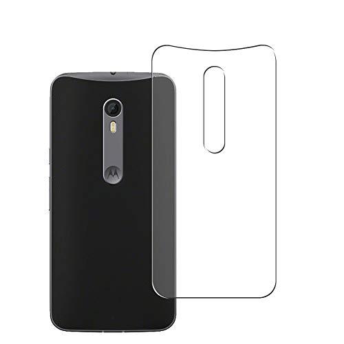 Vaxson 2 Stück Rückseite Schutzfolie, kompatibel mit Motorola Moto X Style, Backcover Skin TPU Folie [nicht Panzerglas/nicht Front Bildschirmschutzfolie]