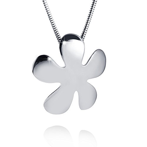 Materia 925 Silber Kettenanhänger VergissMeinNicht Blume rhodiniert für Halskette #KA-210