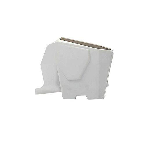 Wencaimd Escurridor de Cubiertos Estantes Elefante Forma Lavabo Organizador Cepillo Dientes Tenedor y Cuchara Palillos Estantería Almacenamiento para en Maceta Plantas Pluma Cepillo Vajilla - Blanco