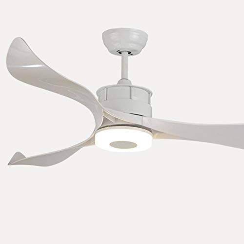 Plafondventilator, eenvoudig, voor huishouden, woonkamer, restaurant, slaapkamer, ventilator, sfeer, dorp, kandelaar, 52 inch, wit licht, driekleurig licht, 24/48 W Lumière blanche Afstandsbediening