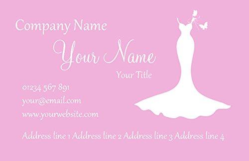 Roze en witte bruidsjurk gepersonaliseerde visitekaartjes 5000 CARDS