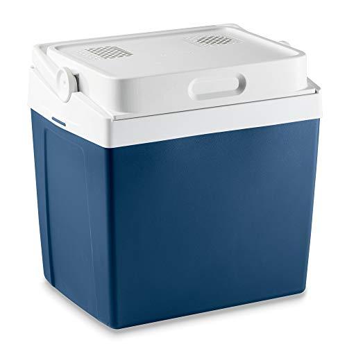 Mobicool V26, tragbare thermo-elektrische Kühlbox, 25 Liter, 12 V und 230 V für Auto, Lkw und Steckdose, Blaumetallic, Energieklasse A++