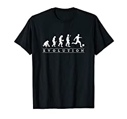おもしろ サッカー 人類の進化 かっこいい フットサル ネタ デザイン プレゼント サッカー選手 Tシャツ
