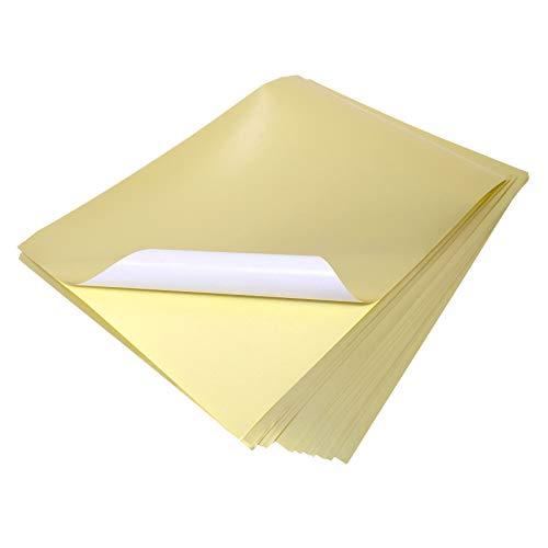 Evergreen Goods 10 A4 vellen metallic goud kleur laser bedrukbaar zelfklevende sticker ambachtelijke etiketten silhouet papier
