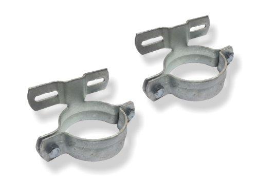1 Paar (2 Stück) Schellen Rohrschelle ø76mm feuerverzinkt 70mm Lochabstand
