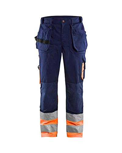 "Blakläder Bundhose \""High-Vis\"" Klasse 1, 1 Stück, D128, marineblau / orange, 152918608953D128"