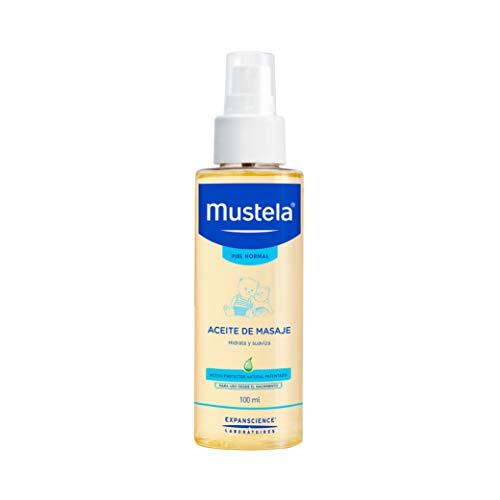 Mustela Mustela Aceite De Masaje Para Bebé Y Niño Con Piel Normal A Base De Ingredientes Naturales, color, 100 ml, pack of/paquete de