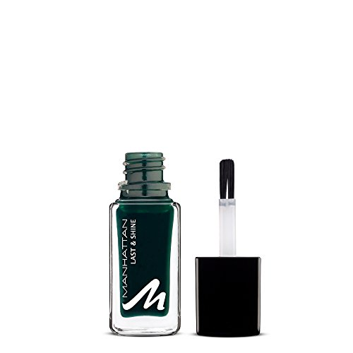 Manhattan Last & Shine Nagellack – Dunkelgrüner, glänzender Nail Polish für 10 Tage perfekten Halt – Farbe Touch Of Emerald 835 – 1 x 10ml