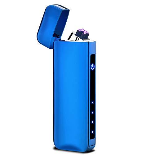 nulala creatieve touch inductie dubbelboog USB oplader aansteker persoonlijk metaal winddicht sigarettenaansteker