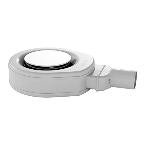 Kaldewei Professional KA 90 Ablaufgarnitur ultraflach mit vollemailliertem Ablaufdeckel weiß 687744490001