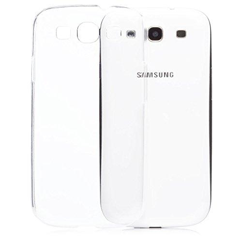 iCues Custodia compatibile con Samsung Galaxy S3 NEO & S3 | Ultra Slim trasparente | in più di luce protezione trasparente Coperchio [protezione dello schermo Compreso] Tasca Borsa