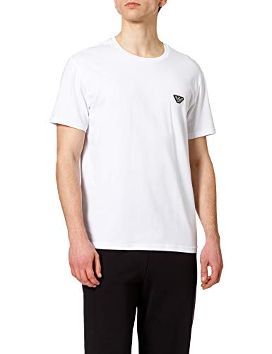 Emporio Armani Underwear T-Shirt Shiny Logoband, Bianco, L Uomo