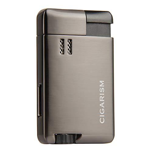 CIGARISM 1 Torch Jet Flame Windproof Cigar Lighter (Gun Metal)