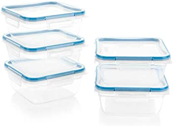 10-Piece Snapware Total Solution Square Plastic Meal Prep Set