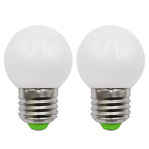 E27 LED Lampe AC12V/DC12-24V 3W Ersetzt 30W Halogenlampe E27 LED Klein G45 Glühbirne Für Off Grid Solar Beleuchtung Marine RV Innenbeleuchtung Wohnmobil Naturweiß 4000K, 2er-Pack[MEHRWEG]