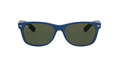 Ray-Ban New Wayfarer Color Mix RB2132-646331-52 Gafas de sol, Matte Blue, 55 Unisex
