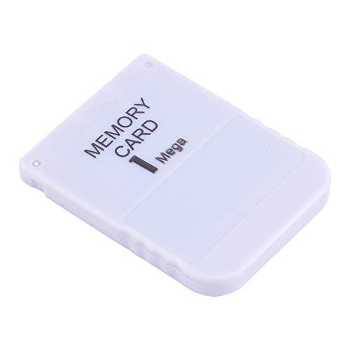 Scheda Di Memoria Da 1 Mb Per Sony Ps, Scheda Di Memoria Ps1 Compatibile Con Qualsiasi Gioco Playstation, Bianco
