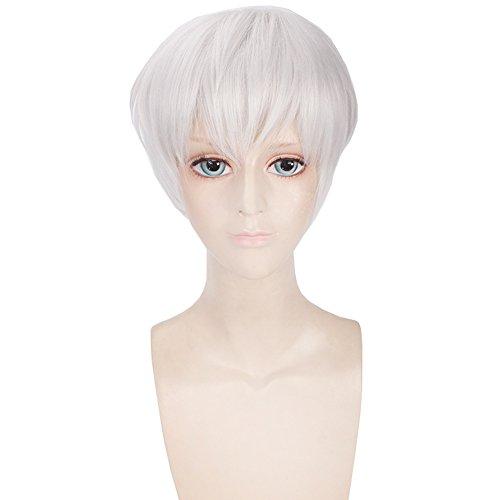 Short Wigs Cosplay Tokyo Ghoul Kaneki Ken White Men Hair Halloween