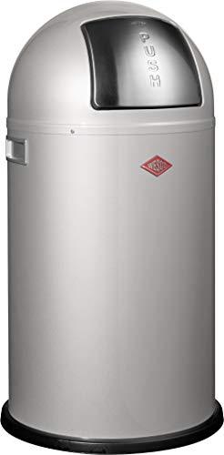 Wesco 175 831 Pushboy Abfallsammler 50 Liter silber