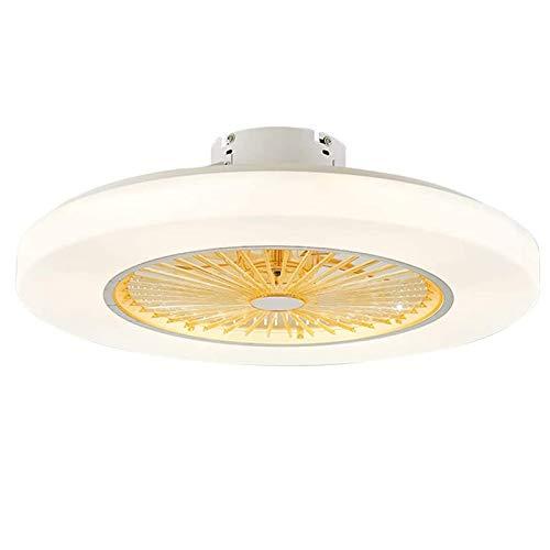 HKLY Ventilador de Techo con Iluminación, Ventilador de Techo con Luz LED y Mando a Distancia Velocidad de Viento Ajustable 36W Regulable Lámpara de Techo Moderna para Recámara Salón Plafón Fan
