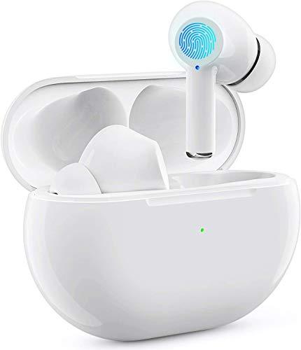Auriculares inalámbricos Bluetooth, Auriculares Wireless 3D estéreo HD, emparejamiento automático para Llamadas binaurales, con Estuche de Carga portátil, para iPhone/AirPods Pro/Huawei/Freebuds