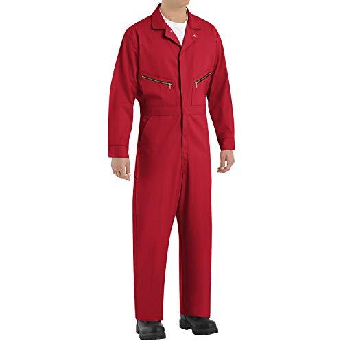 Red Kap Herren-Overall aus Baumwolle mit Reißverschluss vorne - Rot - 58