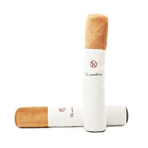 Plüsch 50CM Zigarette keine Rauchen Muster langen zylindrischen Kissen Kissen Kissen werfen