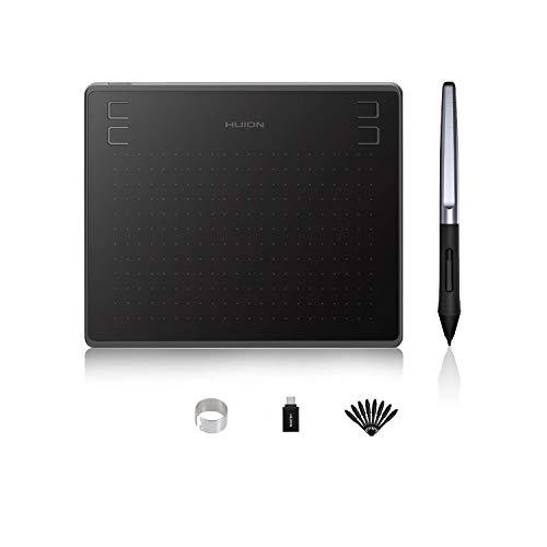 HUION Tableta gráfica de Dibujo HS64 8192 Niveles Presión sin batería Pen Tablet 6