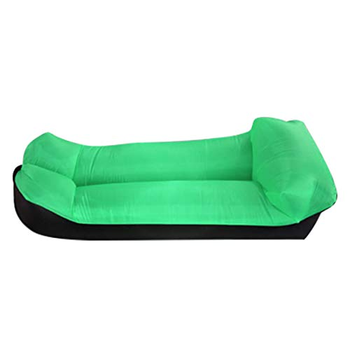 Inflatable Lounger Air Sofa -Portable,Water Proof& Anti-Air Leaking Design-Best Air Lounger for Travelling, Camping, Hiking -Perfect for Swimming Pools, Beach Parties, Picnics or Holiday (Green)