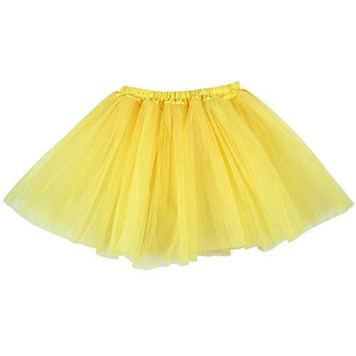 Ruiuzi Tutu Falda de Mujer Falda de Tul 50