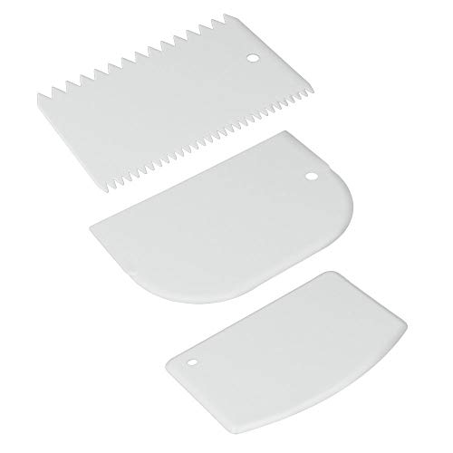 Juego 3 ESPATULAS PLASTICO REPOSTERIA, Color Blanco, Estandar