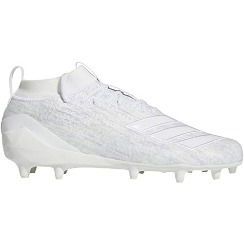 adidas Adizero 8.0 Cleat - Men's Lacrosse White/Silver Metallic