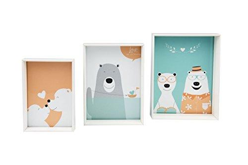 Gallery Solutions Bilderrahmen Set mit 3 Rahmen, Weiß, Formate: 10x15, 13x18 und 15x20 cm
