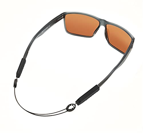 Luxe Performance Cable Strap Premium Adjustable No Tail Sunglass Strap and Eyewear Retainer for Your Sunglasses, Eyeglasses, or Prescription Glasses (Fish Black 14)