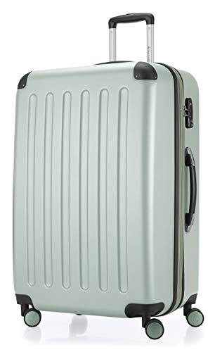 HAUPTSTADTKOFFER - Spree - Hartschalen-Koffer Koffer Trolley Rollkoffer Reisekoffer Erweiterbar, 4 Rollen, TSA, 75 cm, 119 Liter, Mint