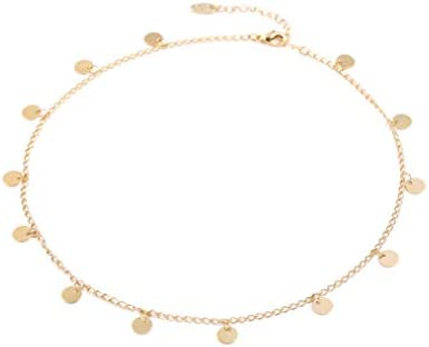 Hand Made Necklace Simple 14K Gold Plated Silver Plated Delicate Dainty Star and Bead Chain product image