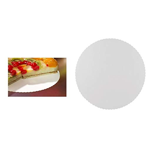 Papstar 11372, 100 bases de cartón para tarta, pure, redondo, diámetro 30 centimeter, blanco con borde dentado