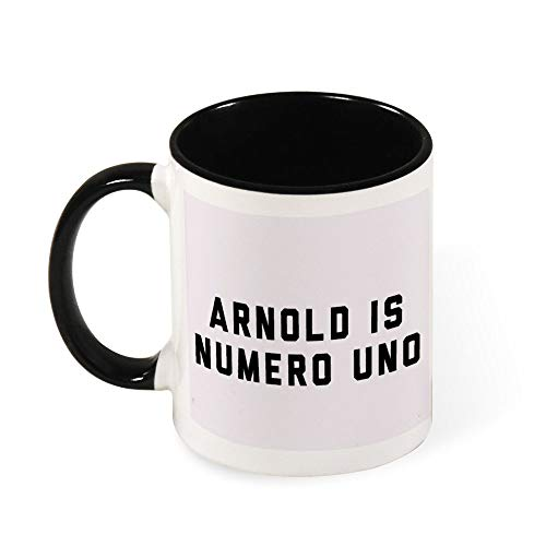Arnold Schwarzenegger Arnold is Numero Uno, taza de café de cerámica blanca y negra, regalo para mujeres, niñas, esposa, mamá, abuela, 325 ml