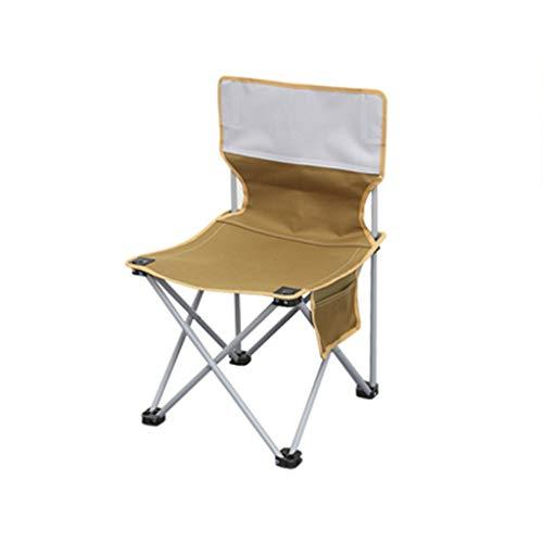 HYXI-Chaise Le siège de Camping Pliant léger portatif de pêche de Plage de Randonneur portatif extérieur Peut Supporter Le Poids 100KG