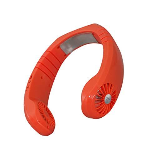 WANDE Besonders Leise Klimaanlage Ventilator, Hängenden Hals Lüfter, Tragbaren USB-Mini-Kühler, Halbleiter-Kühltechnik Lüfter,Orange